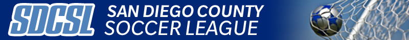 San Diego County Soccer League banner